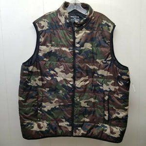 Swiss Tech 2XL Camouflage Camo Puffer Vest Full Zi